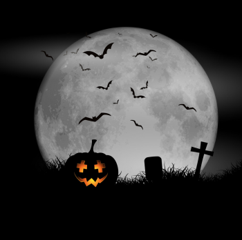 Halloween Moon Background Vector Colorpng png free download