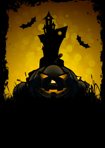 Halloween Party Card Template Vector Colorpng png free download