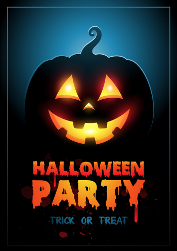 Halloween Party Design Template With Pumpkin Vector Colorpng png free download