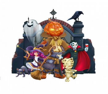 Happy Halloween Pumpkin Scarecrow Witch Mummy Vector Colorpng png free download