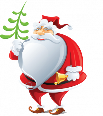 Happy Santa Claus With Bell Vector Imgenes Png Wave Colorpng com