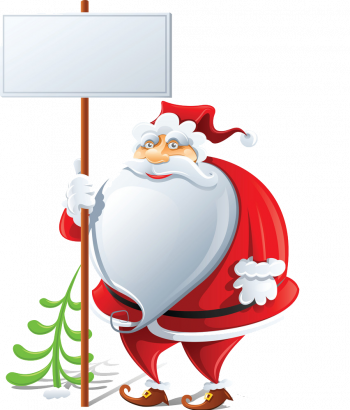 Happy Santa Claus With Sign Vector Imgenes Png Wave Colorpng com