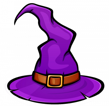 Purple Witch Hat Design Vector Colorpng Free Download