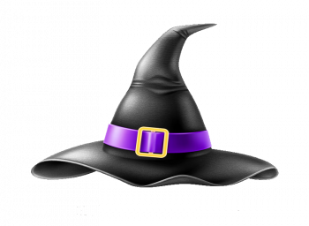 Realistic Witch Pointed Hat With Buckle Vector Colorpng Free Download
