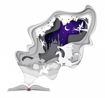 Story Book In Paper Art Style Vector Imgenes Png Wave Colorpng com