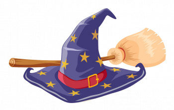 Witch Hat And Broomstick Vector Colorpng Free Download
