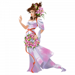 Young Woman In Dress In Oriental Style Vector Imgenes Png Wave Colorpng com